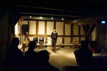 """Kvällens huvudnummer var Lina Arvidsson med sin föreställning """"Undervattensleken""""."""